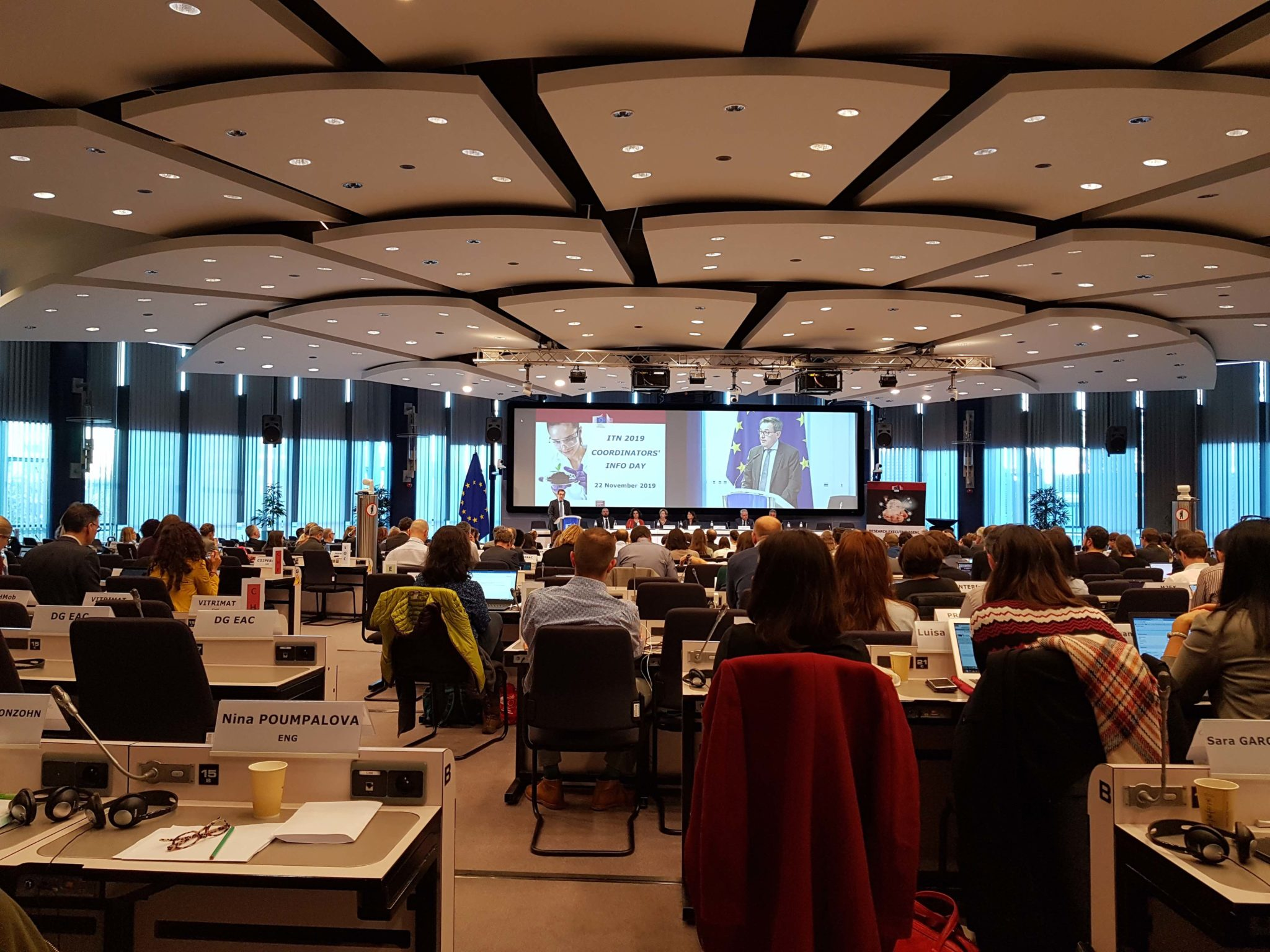 General view of the room at the at the H2020 MSCA ITN Coordinators meeting,